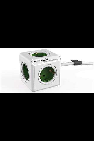 PowerCubeOriginal Extended 1,5m virtapistoke jakaja vihreä