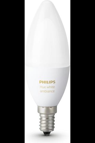 Philips LED-kynttilälamppu Hue white ambiance E14