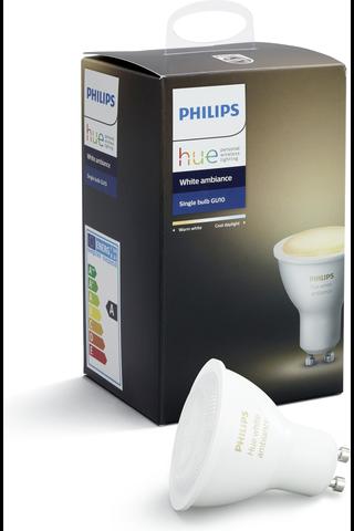 Philips LED-spottilamppu Hue white ambiance GU10