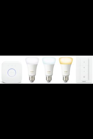 Philips aloituspakkaus Hue white ambiance E27
