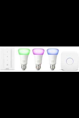 Philips aloituspakkaus Hue white and color ambiance E27