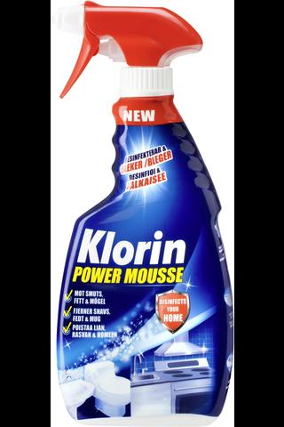 Klorin Power Mousse puhdistus- ja desinfiointi sprayvaahto 500ml
