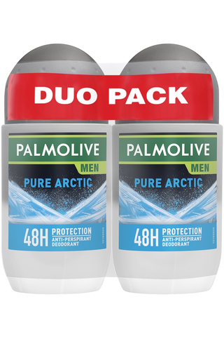 Palmolive Men 2x50 ml Pure Artic antiperspirantti roll-on
