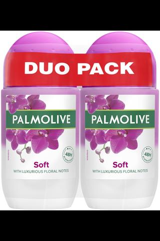 Palmolive Naturals 2x50ml Luxurious Softness antiperspirantti roll-on