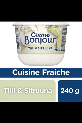 Crème Bonjour Cuisine Maustettu Ranskankerma Tilli & Sitruuna 240g