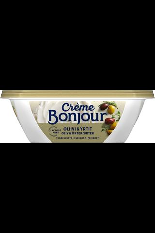 Crème Bonjour 200g Oliivi & Yrtit tuorejuusto laktoositon