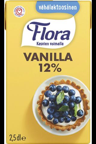 Flora Vanilla vähälaktoosinen vaniljakastike 2,5dl