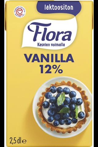 Flora Vanilla laktoositon vaniljakastike 2,5dl