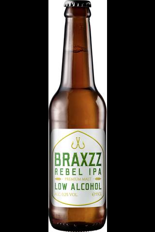 Braxzz 0,33l Rebel IPA 0,2% olut
