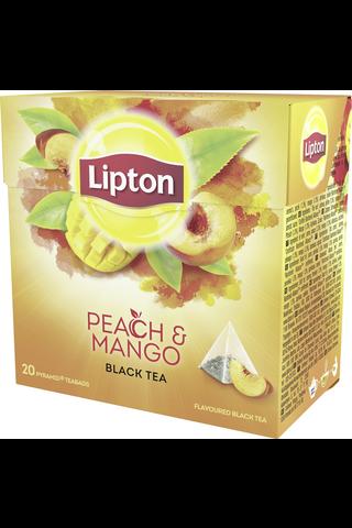 Lipton 20ps Peach Mango pyramidi musta tee