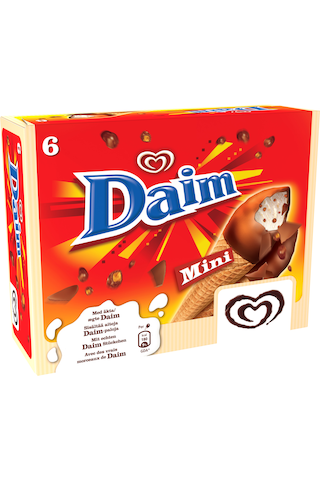 Heartbrand 510ml/312g Daim Mini jäätelötuutti 6-pack