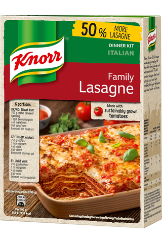Knorr 363g Family Lasagne ateria-aines