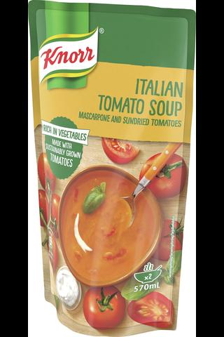 Knorr 570ml Tomaattikeitto mascarpone-juustolla ja aurinkokuivatuilla tomaateilla