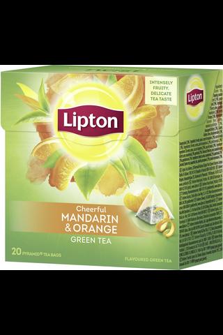 Lipton 36g Green Mandarin Orange pyramidi vihreä tee 20ps