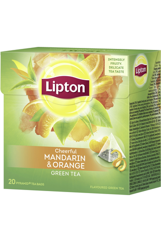 Lipton 20ps Green Mandarin Orange pyramidi vihreä tee