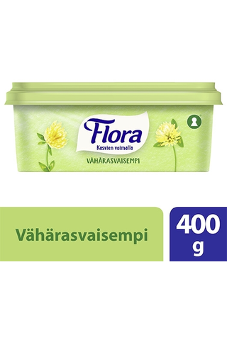 Flora Margariini Vähärasvainen 40% 400g