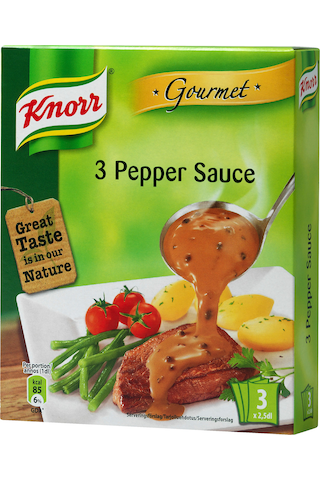Knorr 3x2,5dl Kolmen pippurin kastike