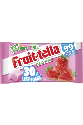 Fruittella 28g Strawberry vähemmän sokeria hedelmätoffee