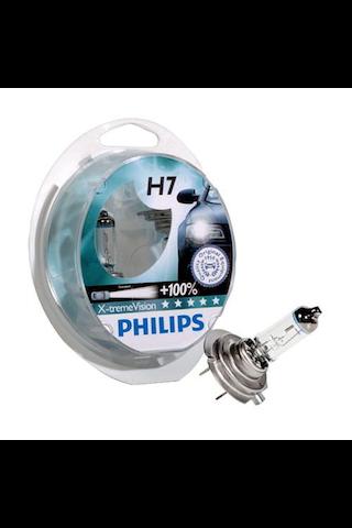 Autolamppu Philips X-treme Vision H7 2 kpl