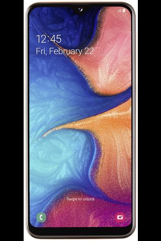 Samsung A20e älypuhelin coral