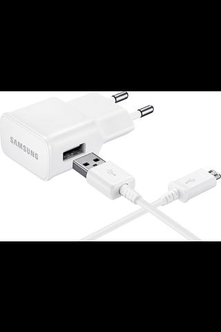 Samsung teholaturi micro-USB -liitännällä valkoinen