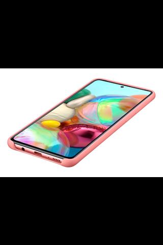 Samsung galaxy suoja  A71 Silicone Cover pinkki
