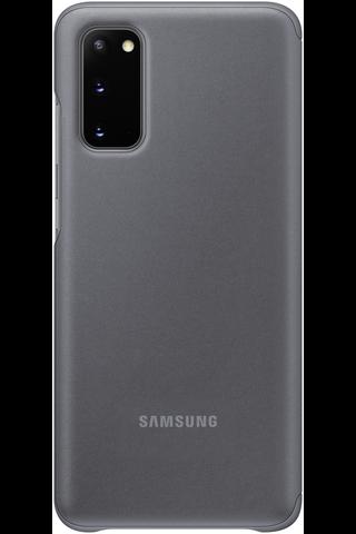 Samsung Galaxy S20 Clear View harmaa suoja