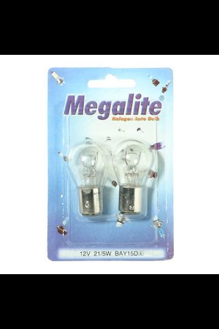 Megalite autolamppu 12499 12V 21/5W 2kpl