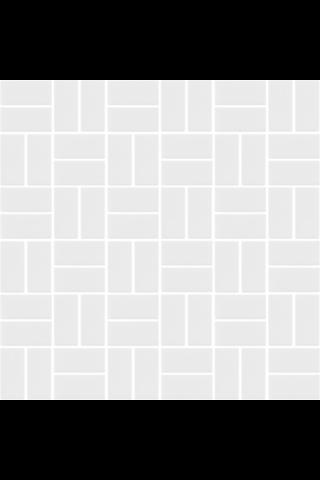 Basket Weave Matt White 2.2X4.7 lasitettu Mosaiikki verkolla