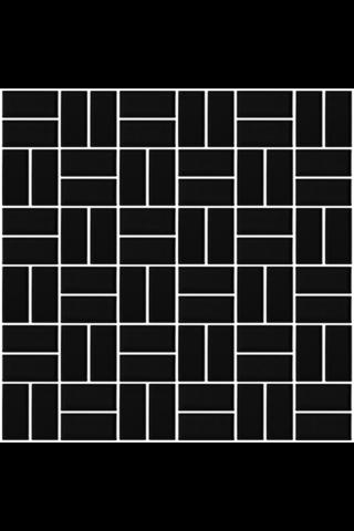 Basket Weave Matt Black 2.2X4.7 lasitettu Mosaiikki verkolla