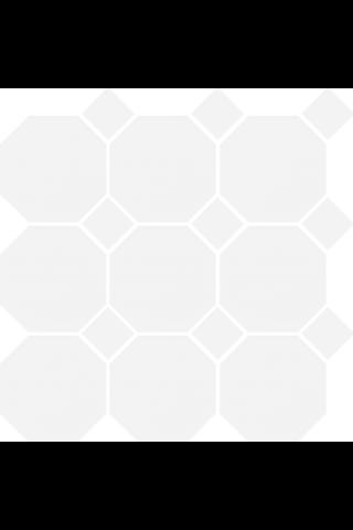 Art Octagon 9.77X9.77 verk.valk/valkoinen lasitettu laatta