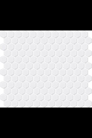 LPC Hexagon Xs 2,3x2,3 kiiltävä valkoinen mosaiikki