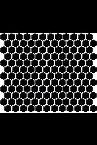 LPC Hexagon Xs 2,3x2,3 matta musta mosaiikki