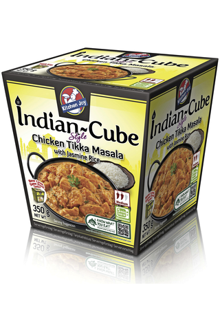 Kitchen Joy 350g Indian-Cube Tikka Masala broileria ja jasmiiniriisiä, pakasteateria