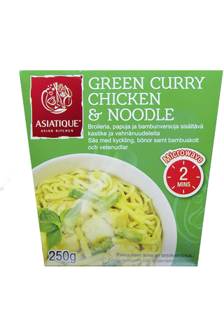 Green Curry Chicken & Noodle 250g.