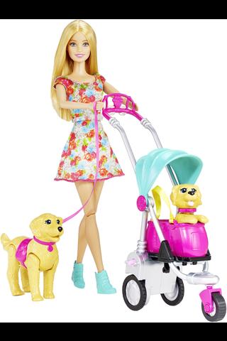 Barbie Strollin' Pups leikkisetti