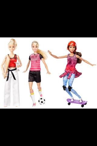 Barbie Sports nukke lajitelma