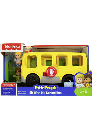 Fisher-Price Little People Sit With Me koulubussi lelu 1v+