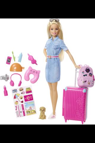 Barbie matkailee nukkesetti FWV25
