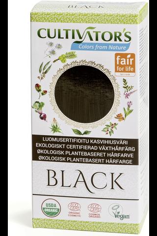 Cultivator's luomusertifioitu kasvihiusväri black 100g