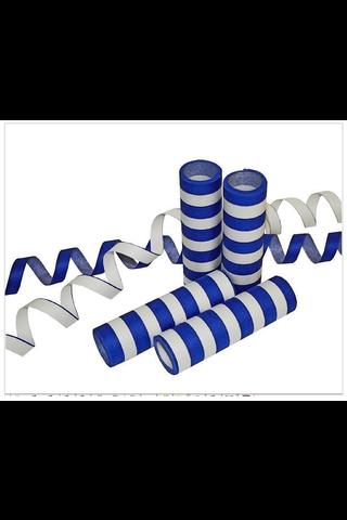 Sini-valkoinen serpentiini, palosuojattu, 3 kpl/pkt
