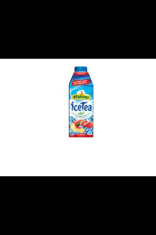 Pfanner 0.75l persikka 30% vähemmän sokeria jäätee