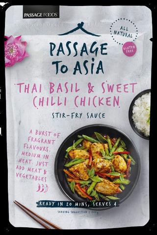 Passage to Asia 200g thai basil & sweet chili chicken ateriakastike
