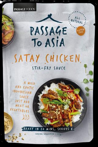 Passage to Asia 200g Malaysian satay chicken ateriakastike