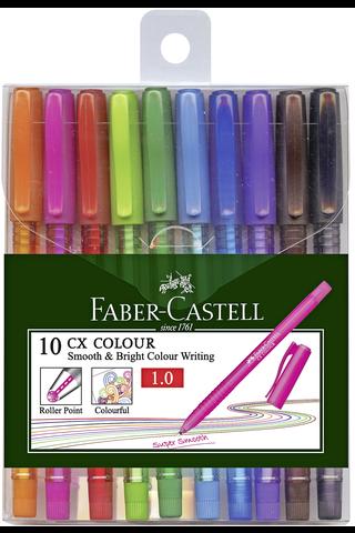 Faber-Castell kuulakärkikynäsetti 10 CX Color Ball 10 väriä