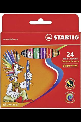 Stabilo vahaliitu Yippy-wax 24 väriä