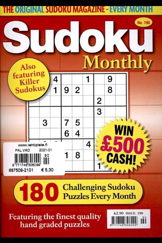 Sudoku Monthly aikakauslehti