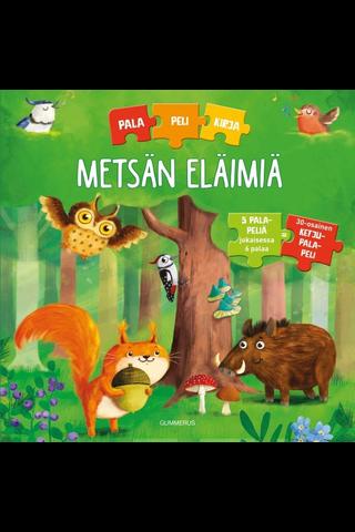 Metsän eläimiä palapelikirja