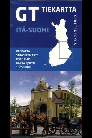 Karttakeskus GT tiekartta - Itä-Suomi