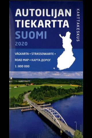 Autoilijan Tiekartta Suomi kartta